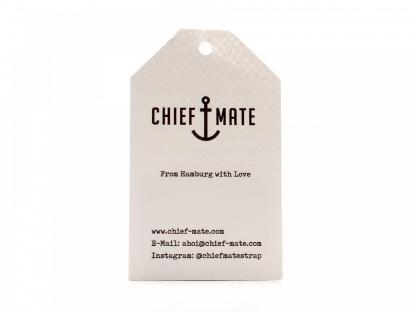 CHIEF MATE Leder-Tragriemen dunkelbraun