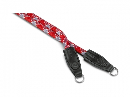 LEICA Rope Strap by Cooph, red check, 126cm
